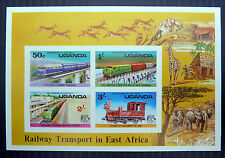 UGANDA Wholesale 1976 Railway Imperf M/Sheets x 50 NEW LOWER PRICE  149