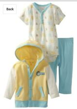 AUTH. BNWT RENE ROFE BABY BOYS INFANT HOODED CARDIGAN PANTS SET (6-9 MOS.)