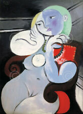 ART PRINT Nude Woman in a Red Armchair, 1932 - Pablo Picasso 28x22 Cubism Poster