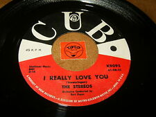 THE STEREOS - I REALLY LOVE YOU - PLEASE COME BACK  / LISTEN - DOO WOP POPCORN