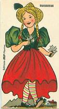 Suisse Schweiz Switzerland COSTUME CARD IMAGE 50s
