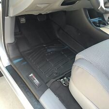 First + Second Row Floor Mats in Black for 2012 - 2015 Toyota Tacoma Double Cab