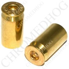 2 Real 45 Cal ACP Brass Bullet Casing - Motorcycle Tire Air Valve Stem Cap Set