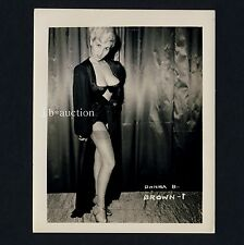 BUSTY BLOND DONNA BROWN IN UNDERWEAR LINGERIE UNTERWÄSCHE * Vintage 60s US Photo