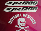 XJR 1200 BLACK FAIRING SEAT UNIT CUSTOM GRAPHICS DECALS STICKERS