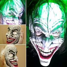 Limited Edition Joker Clown Prince Half Face Mask handmade/painted-Not Mass prod