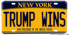 State of New York Donald Trump Wins Victory License Plate & Soft Car Coaster