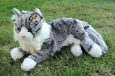 Maine Coon Katze, liegend 44 cm (Designerware), Plüschkatze