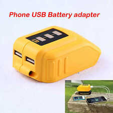 USB Mobile Battery Charger Adaptor for Dewalt 10.8v - 20v Slide DCB184 DCB090