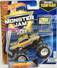 HOT WHEELS 2017 MONSTER JAM INCLUDES TEAM FLAG AVENGER CHROME #4/7