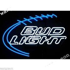 Budweiser Bud Light Football Hand-made Beer Bar Real Neon Sign FAST FREE SHIPING