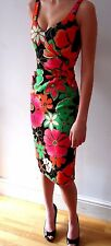 Karen Millen Floral Wiggle Pencil Dress UK Size 12