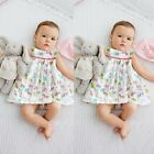 New 12 24 Months 2 3T Clothes Set Infant Baby Girl Peplum Dress+Underpant Outfit