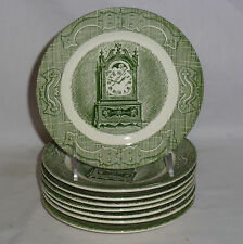 """Royal The Old Curiosity Shop Eight Bread & Butter Plates (6 1/2"""")"""