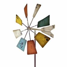 Windmill Garden Stake Vintage Square, Outdoor Yard Home Lawn Decoration Art