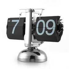 Quality Retro Modern Metal Scale Digital Auto Flip Single Stand Desk Table Clock