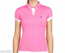 WOMEN'S K-SWISS 66 POLO TOP  - SHOCKING PINK -  SIZE SMALL - 10  ***NEW***