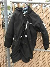 LOS ANGELES RAIDERS BLACK MEDIUM TRIPLE FAT GOOSE PARKA TRENCH JACKET