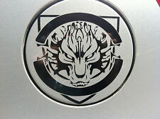 Ferocious Wolf Car Fuel Gas Tank Cap Stickers Adhesive Graphic Decal (Black)