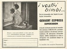 W2973 Gevaert Express - I Vostri bimbi... - Pubblicità del 1932 - Old advert