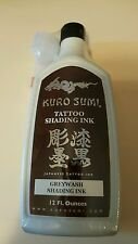 KURO SUMI Greywash Tattoo SHADING Ink 12 oz.New Sealed. graywash $13.99
