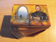 STARGATE SEASON SIX COMPLETE BASIC SET OF 72 CARDS