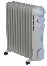 Prem-I-Air 2.5 kW 11 Fin Oil Filled Portable Radiator With Timer & Wheels #1369