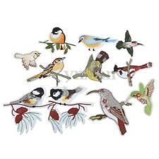 10Pcs Embroidery Birds Iron Sew On Patch Badge Fabric Trim Applique w/Adhesive