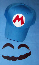 "Handmade Super ""ICE"" MARIO Costume Face Pieces & Hat w/ Letter ""M"""