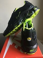 ⭐ New Nike Air Max TN Tuned 1 Black Yellow 90 95 U.K. 9 ⭐