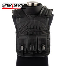 TACTICAL WARGAME AIRSOFT PAINTBALL BODY ARMOR PAINTBALL SUD VEST BLACK