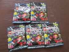 BRAND NEW SEALED IN PACKET SERIES 14 LEGO MONSTER MINI FIGURES. 5 PACKETS