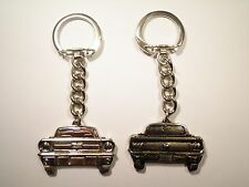 2 Vintage Silver Plated Mustang Keychains