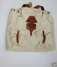 Ralph Lauren RRL Vintage oversize  Leather and Canvas Backpack Bag