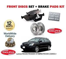 FOR Lexus RX300 RX400H HYBRID RX350  2/2003-  FRONT BRAKE DISCS SET &  PADS KIT