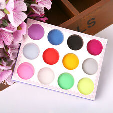 12 Colors Acrylic Nail Art Tips UV Gel Powder Dust Design 3D Decor Manicure NEW