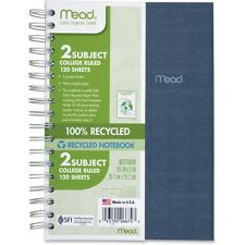 Mead Recycled Notebook College Ruled 6 X 9 1/2 120 Sheets Perforated Assorted