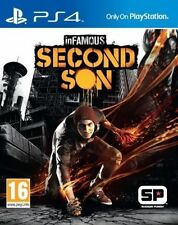 INFAMOUS SECOND SON PS4 PlayStation 4 GAME USED IN GOOD CONDITION