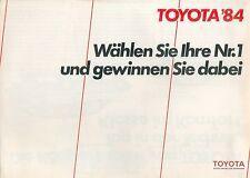 Toyota Prospekt 1984 brochure Cressida Celica Supra Camry Auto PKWs Japan Asien