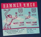 WEST HAM UNITED HOME PROGRAMMES 1977-1978