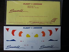 1/144 DECALS FLIGHT DESIGNS SUNWORLD AIRLINES McDONNELL DC-9-30 DECALCOMANIE