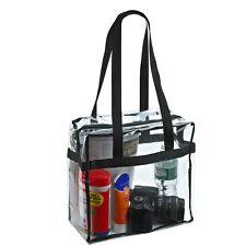 Women Clear Tote Bag PVC Handbag Shoulder Comestic Makeup Transparent Beach Bags