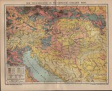 Landkarte map 1903: DIE VOLKSDICHTE IN ÖSTERREICH-UNGARN 1900.