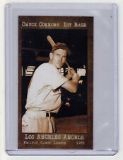 1951 Chuck Connors Los Angeles minor leaguer, later TV & film star, mint cond.