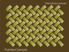 Basket Weave STENCIL Lattice Background Texture Wall Art Shabby Cottage Signs