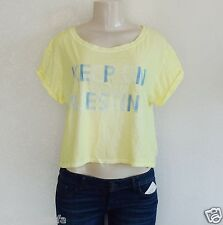 GUESS Women's Short-Sleeve Keep On Guessing Top – Yellow sz L