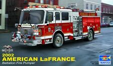 Trumpeter 2002 American LaFrance Eagle Fire Truck 1:25 Scale Model Kit NEW