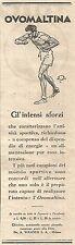 W4037 Ovomaltina - Gli intensi sforzi... -  Pubblicità del 1930 - Vintage advert
