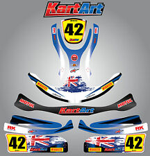 Arrow X1 Junior  full custom KART ART sticker kit AUSSIE PRIDE STYLE / graphics