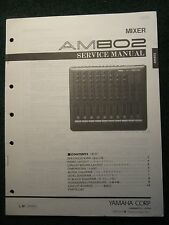 Yamaha AM802 Mixer Service Repair Manual Schematics Parts List 1989